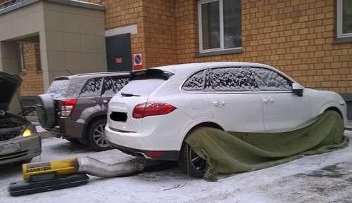 Отогрев авто в Москве
